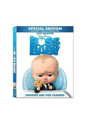 The Boss Baby (Blu-ray/DVD, 2017, Includes Digital Copy) with Talking keychain