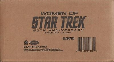 Women of Star Trek 50th Anniversary Factory Sealed Case - has 12 Sealed Boxes