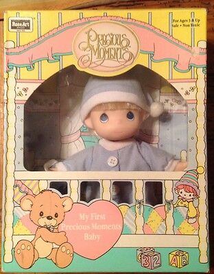 "Vintage 1992 Precious Moments Baby Boy Doll 6"" Tall  (NEW IN BOX)"