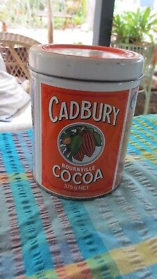 Retro Cadbury  Bournville  Cocoa Tin,great advertiseing vintage pictures