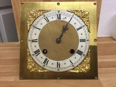 Oldfield Liverpool Clock Movement Square Brass Face & Chapter Dial Sold A/f