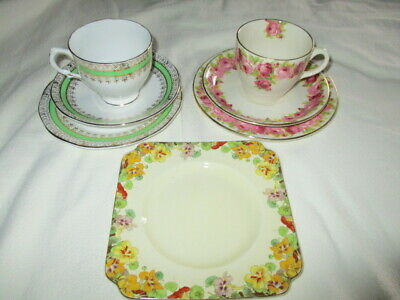 Old Royal Doulton trio tea cup, saucer and side plate D5533 made England