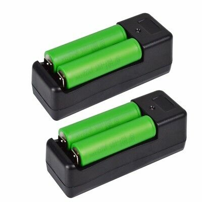 New SONY US18650 VTC5 2600mAh 30A IMR Rechargeable Battery Li-ion w/Case Charger