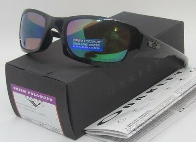 OAKLEY polished black/PRIZM shallow water POLARIZED FIVES SQUARED sunglasses NEW