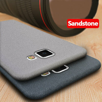 For Samsung Galaxy A3 A5 A6 A7 A8 Star Sandstone Matte Silicone Soft Case Cover