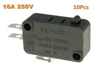 10Pcs Push Button KW1-103 Microswitch SPDT 16A Micro Switch