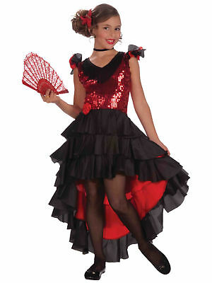 Spanish Dancer Flamenco Deluxe Spanish Spain Senorita Book Week Girls Costume S