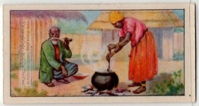 Native African Woman Stirring A Open Fire Cooking Pot  80+  Y/O Ad Trade Card