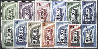 EUROPA STAMP ANNEE COMPLETE 1956 13 TIMBRES NEUFS xx LUXE VALEUR : 671€
