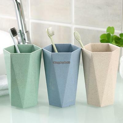 Toothbrush Cup Wheat Straw Drinking Wash Gargle Cup  for Home Bathroom EH7E