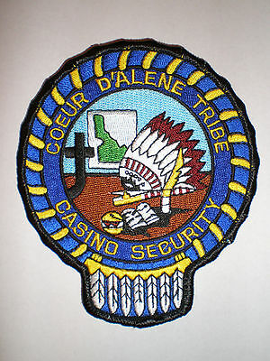 ID Idaho Coeur D'Alene Indian Tribe Casino Security Tribal police patch FULL EMB