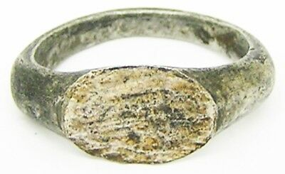 2nd - 3rd century A.D. Nice Excavated Roman Silver Finger Ring Henig Type III