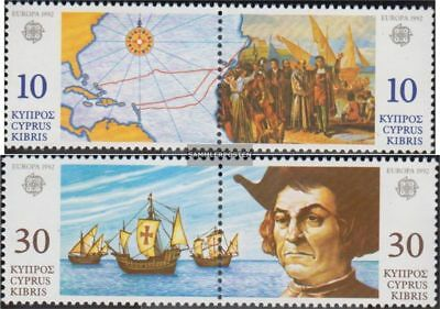 Cyprus 790-793 Couples (complete.issue.) unmounted mint / never hinged 1992 Disc