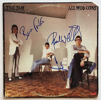 The Jam Autographed Vinyl Record Album signed by all 3  Weller RARE! Beckett BAS
