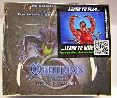 2 Sealed 11 Card PACKS Free Ship OPHIDIAN 2350 CCG Sealed 60 Card Starter Deck