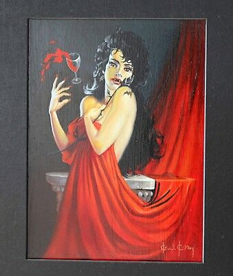 Ken Kelly Painting You Startled Me Darling Signed