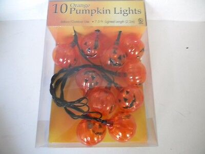 10 Orange Pumpkin   HALLOWEEN String LIGHTS