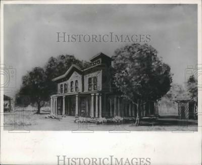 1967 Press Photo Image of Hull House when built in 1856 in suburban Chicago