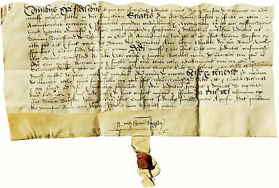 1565 - STANHOE Vellum Indenture - KING'S LYNN - HOME of CAPTAIN VANCOUVER - Rare