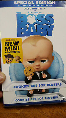 The Boss Baby (Blu-ray/DVD, 2017, Includes Digital Copy)with New MINI Adventure