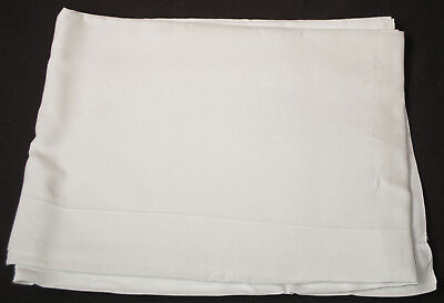 """1920's PURE LINEN TOP SHEET PRISTINE UNUSED LAUNDERED SIZE 101"""" x 73"""""""