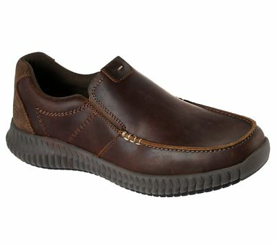 65705 Brown Skechers shoes Men Memory Foam Casual Comfort Slip On Leather Loafer