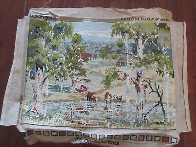 Needlepoint Tapestry The Dam, Pastoral