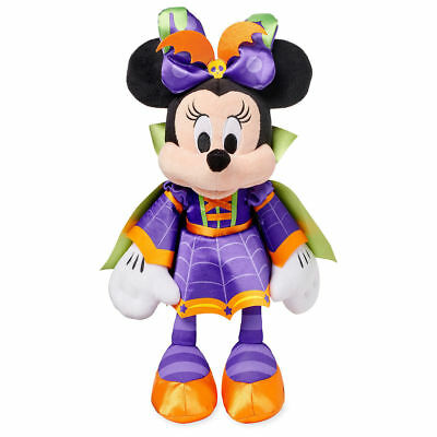 "NWT Disney Store Plush HALLOWEEN 2018 Minnie Mouse 16"" Vampire Costume"