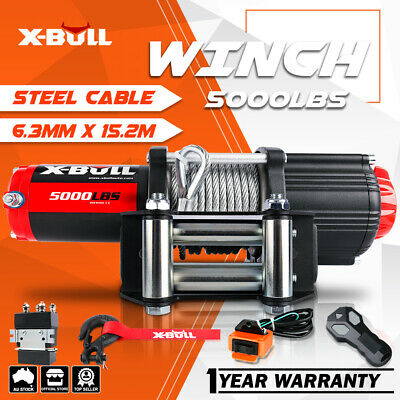 X-BULL 4WD Electric Winch 10M Synthetic Rope ATV 12V Wireless 3000LBS / 1361KGS