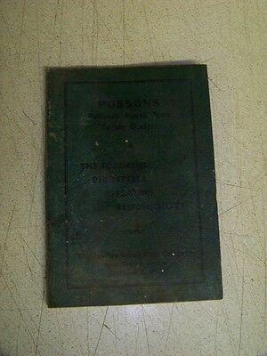1954 Booklet Possons Pull Back Type Safety Device for Punch Press Operators