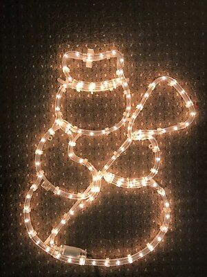 Outdoor Christmas Lights Snowman  Rope Light