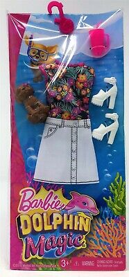 Barbie Doll Dolphin Magic Dress Fashion Outfit Puppy Pet Shoes Toy