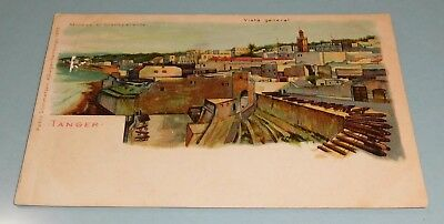 Postcard Antique UDB - General View Tangier Tanger Morocco - Unposted