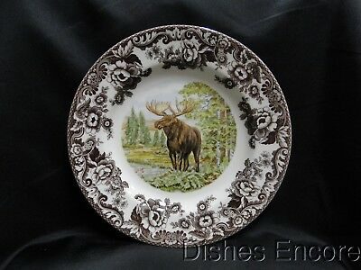 """Spode Woodland Majestic Moose, England: Dinner Plate (s), 10 3/4"""", NEW w/ Box"""