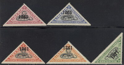 "Liberia 1921 SNAKE registration triangles, all INVERTED ""1921"" MINT $$ #F25-9"