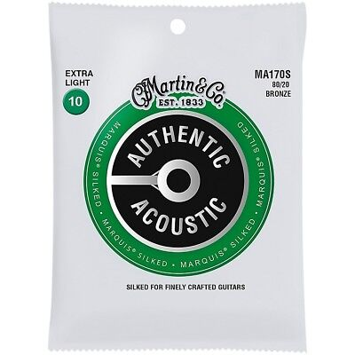 Martin MA170S Marquis 80/20 Bronze Extra-Light Acoustic Silked Guitar Strings