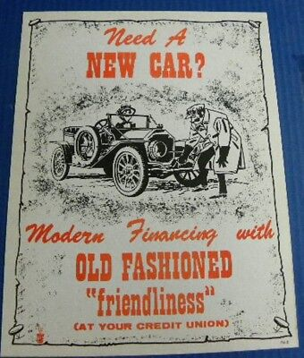 Vintage Credit Union / Bank Ad  / Need A New Car?