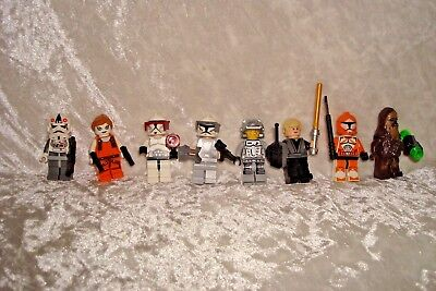 Lego Miniature Star Wars Characters 8 Figures