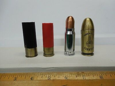 4 - Bullet Lighters - 4 Butane Powered Cartridges - All Tested - New Old Stock