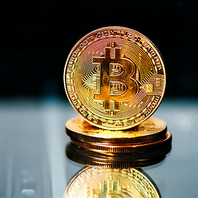 Bitcoin Gold Plated Physical Fantasy Commemorative Collector Gift Virtual Coin