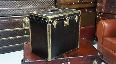 Amazing French Brass Bound Travel Trunk