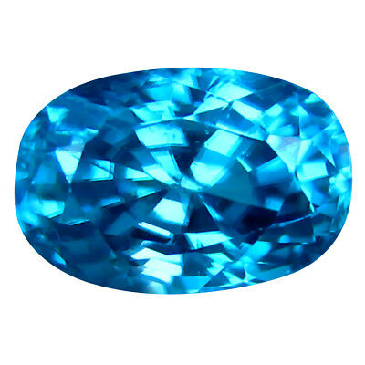 3.11 ct Lovely Oval Cut (8 x 6 mm) Cambodian Blue Zircon Natural Loose Gemstone