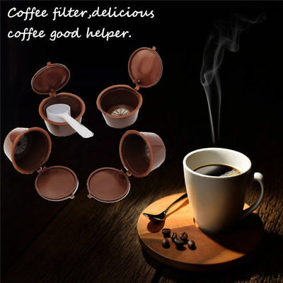 Reusable Spoon Refillable Cup Coffee Capsule Machine For Dolce Gusto Nescafe Set