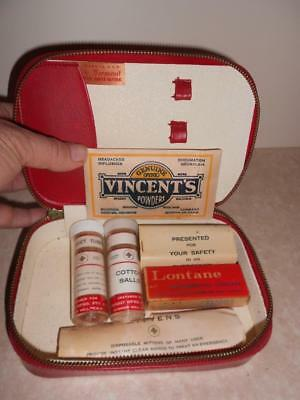 Vintage Incomplete First Aid Kit Made in NSW Vermont VINCENT'S POWDERS