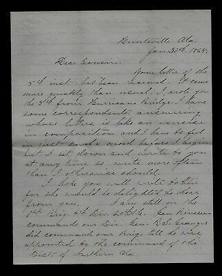 13th Wisconsin Infantry CIVIL WAR SOLDIER LETTER from Huntsville, Alabama NICE!