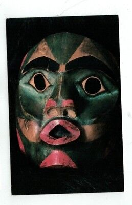 Vintage Eskimo Native Shaman's Mask Post Card from Juneau Alaska