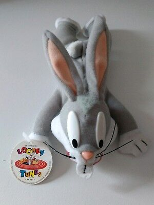 Looney Tunes Bugs Bunny Plush Beanie Bean Bag Play by Play 1996 With Tag