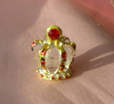 A Dolls House Gold And Silver Jeweled Crown Display Ornament