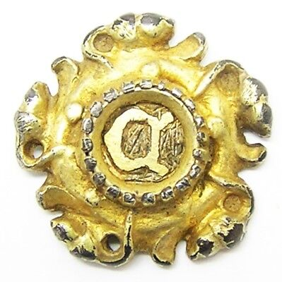 Rare 16th century Tudor Rose Silver-gilt Hat Badge 'C' of Cromwell or Cranmer