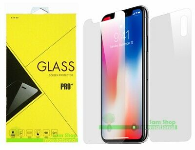 Front + Back Tempered Glass Screen Protector for iPhone XR /XS /XS Max